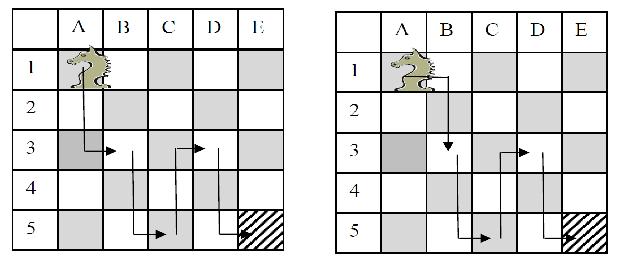 Voici 2 solutions parmi les 16 possibles.